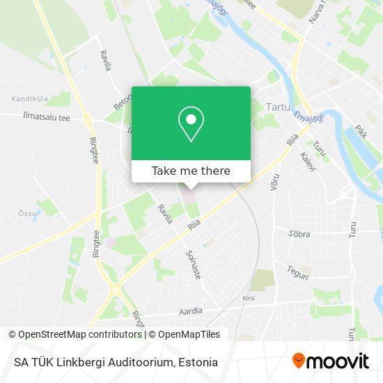 SA TÜK Linkbergi Auditoorium map
