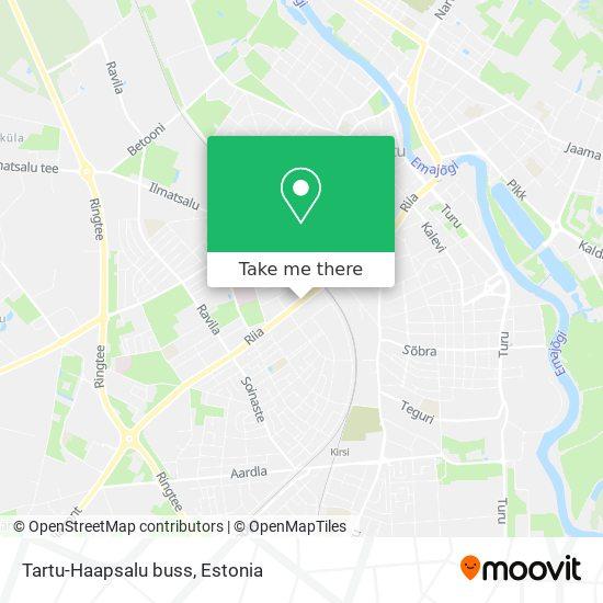 Tartu-Haapsalu buss map