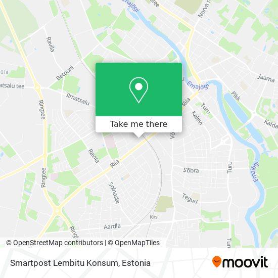 Smartpost Lembitu Konsum map