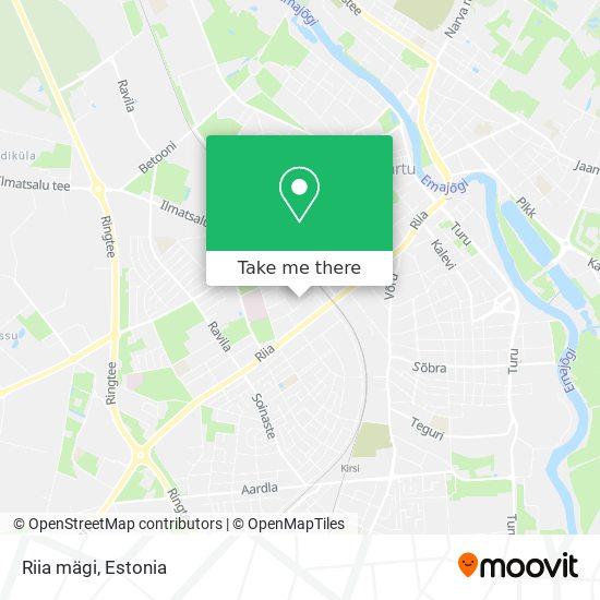 Riia mägi map