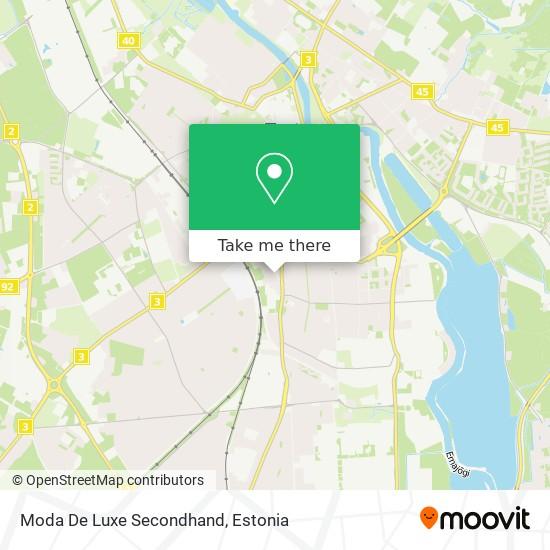 Moda De Luxe Secondhand map