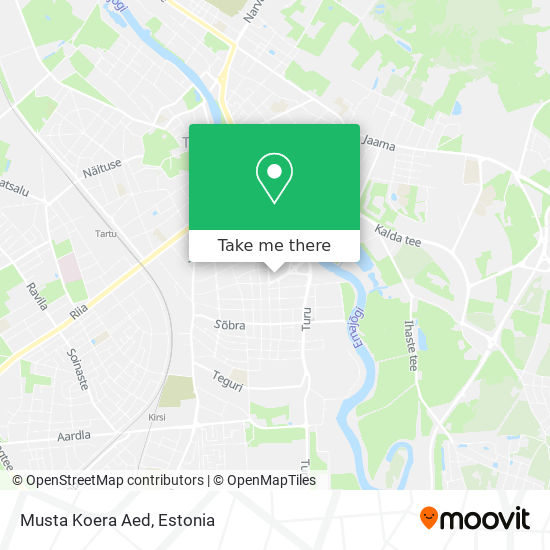 Musta Koera Aed map