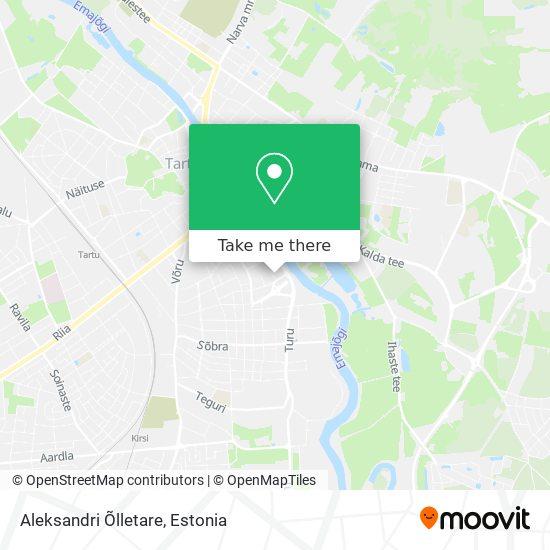 Aleksandri Õlletare map