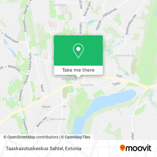 Taaskasutuskeskus Sahtel map