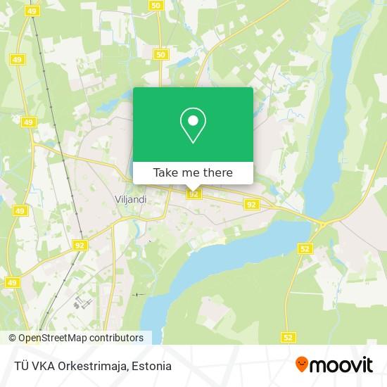 TÜ VKA Orkestrimaja map