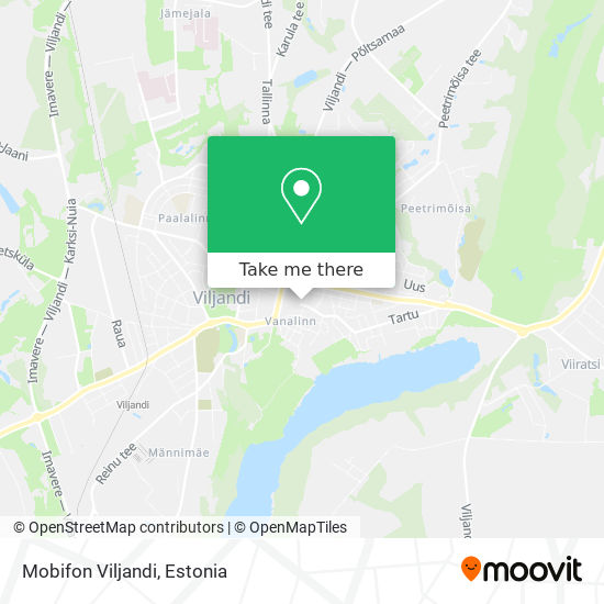 Mobifon Viljandi map