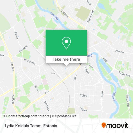 Lydia Koidula Tamm map