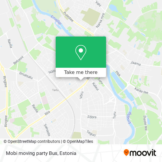Mobi moving party Bus map