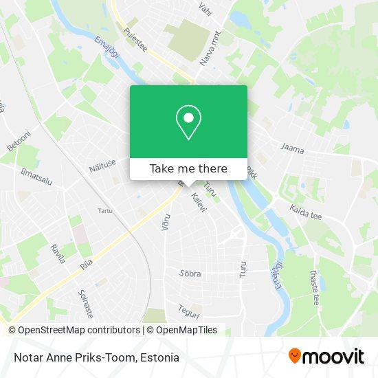 Notar Anne Priks-Toom map