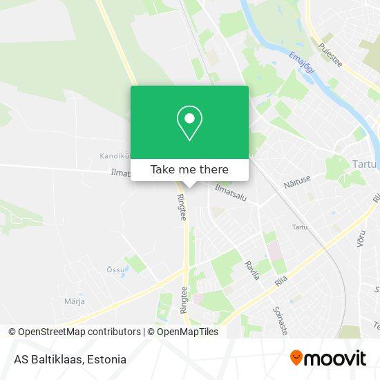 AS Baltiklaas map