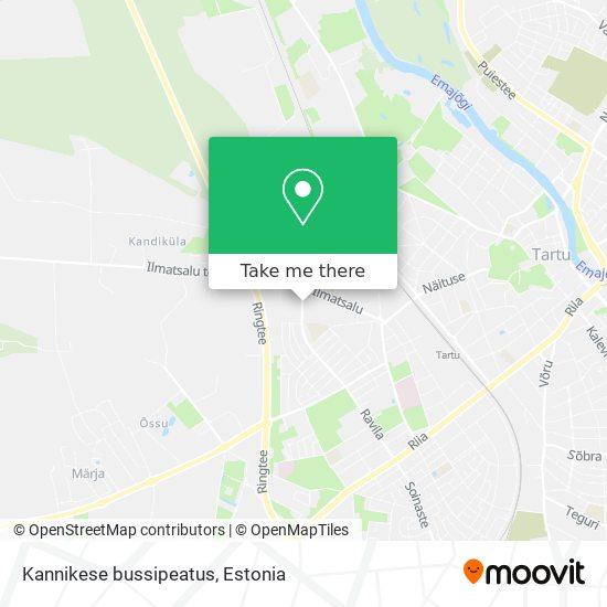 Kannikese bussipeatus map