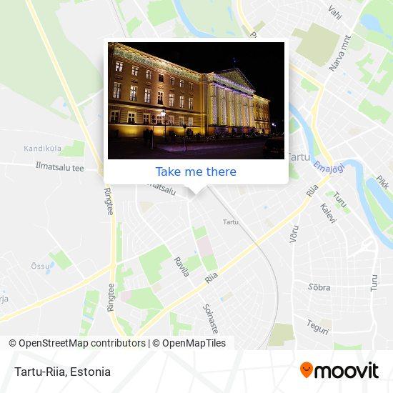Tartu-Riia map