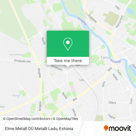 Elme Metall OÜ Metalli Ladu map