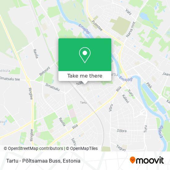 Tartu - Põltsamaa Buss map