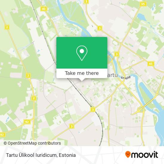 Tartu Ülikool Iuridicum map