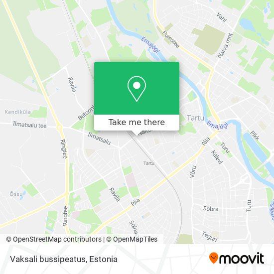 Vaksali bussipeatus map