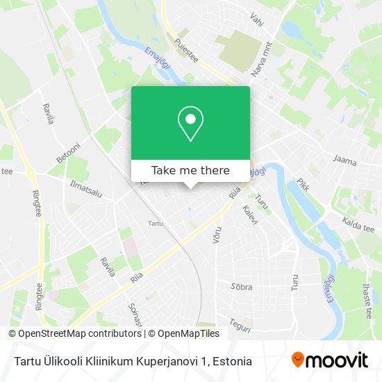 Tartu Ülikooli Kliinikum Kuperjanovi 1 map