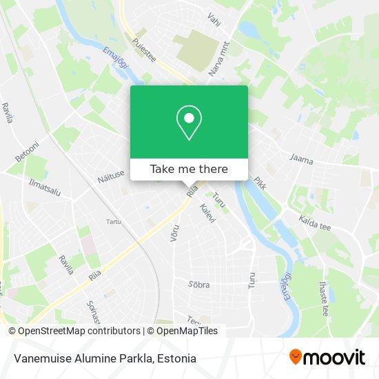 Vanemuise Alumine Parkla map