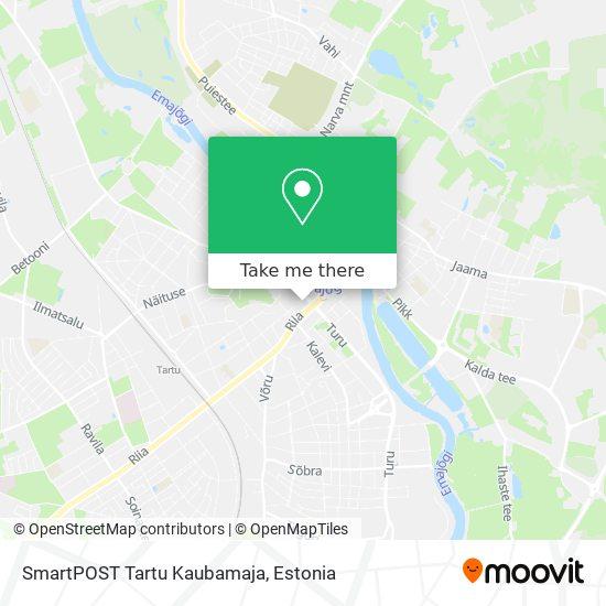 SmartPOST Tartu Kaubamaja map