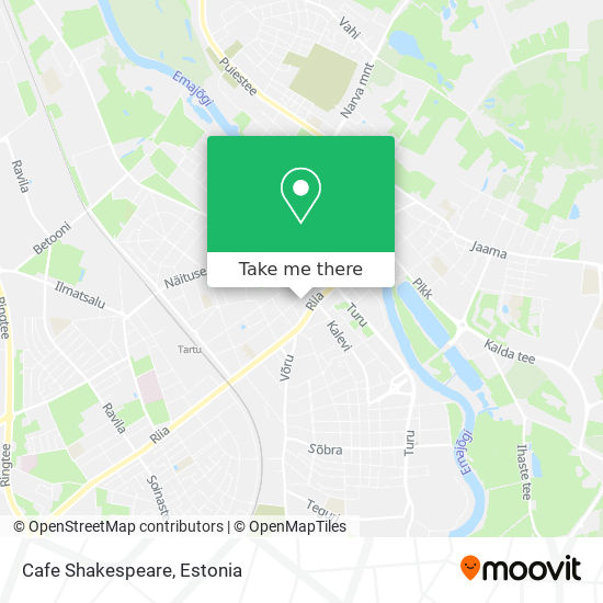 Cafe Shakespeare map