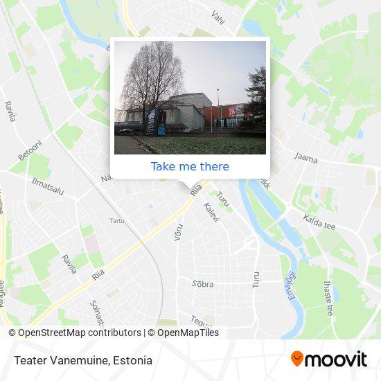 Teater Vanemuine map