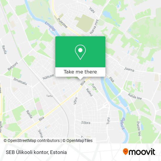 SEB Ülikooli kontor map