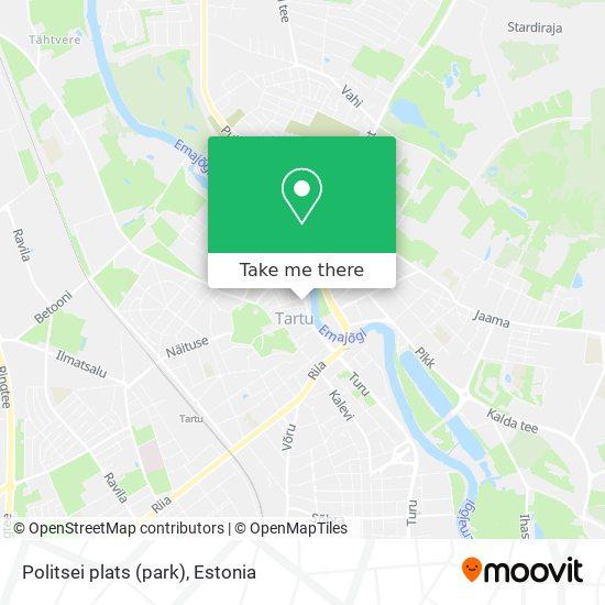 Politsei plats (park) map