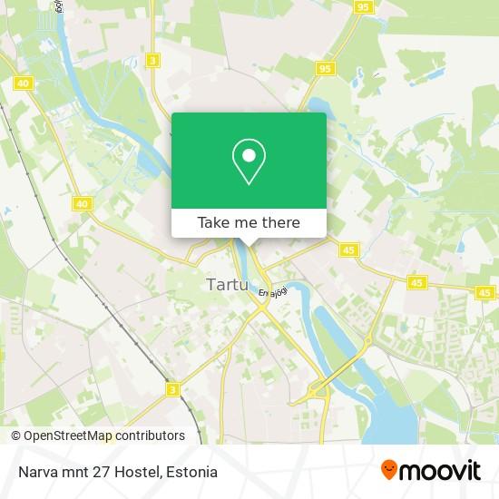 Narva mnt 27 Hostel map