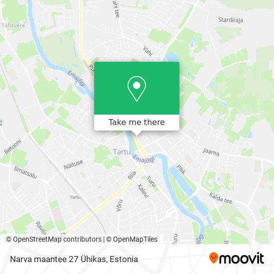 Narva maantee 27 Ühikas map