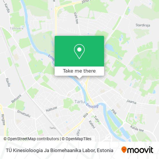TÜ Kinesioloogia Ja Biomehaanika Labor map