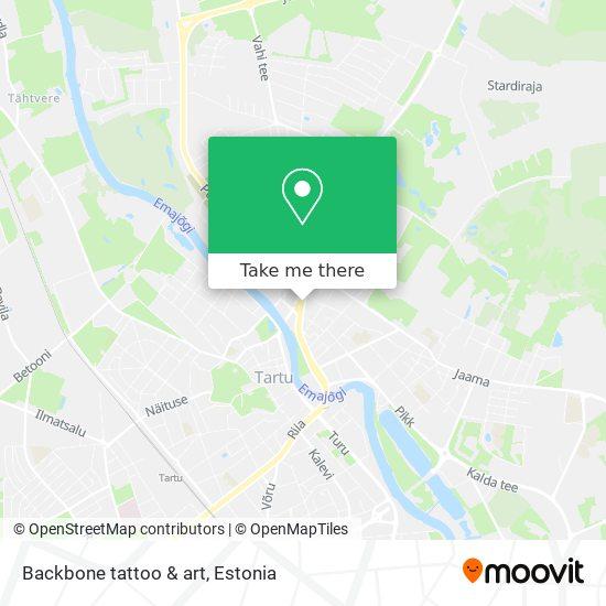Backbone tattoo & art map