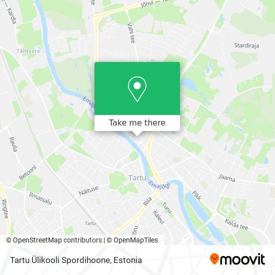 Tartu Ülikooli Spordihoone map