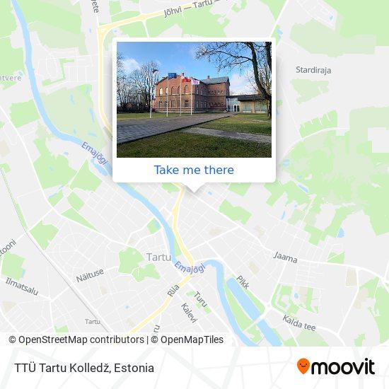 TTÜ Tartu Kolledž map