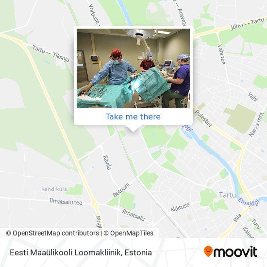 Eesti Maaülikooli Loomakliinik map