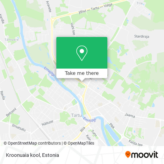 Kroonuaia kool map