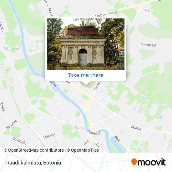 Raadi kalmistu map