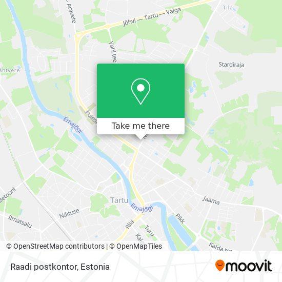 Raadi postkontor map