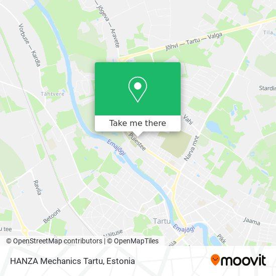 HANZA Mechanics Tartu map