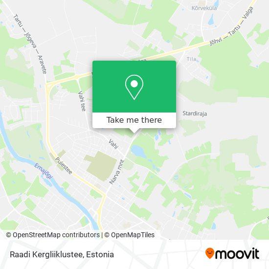 Raadi Kergliiklustee map