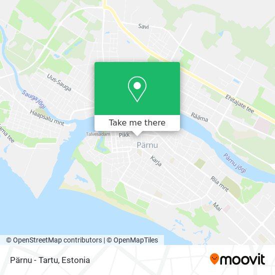 Pärnu - Tartu map