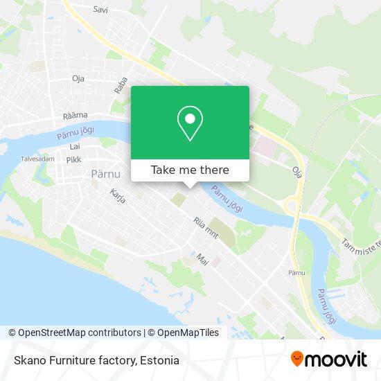 Skano Furniture factory map