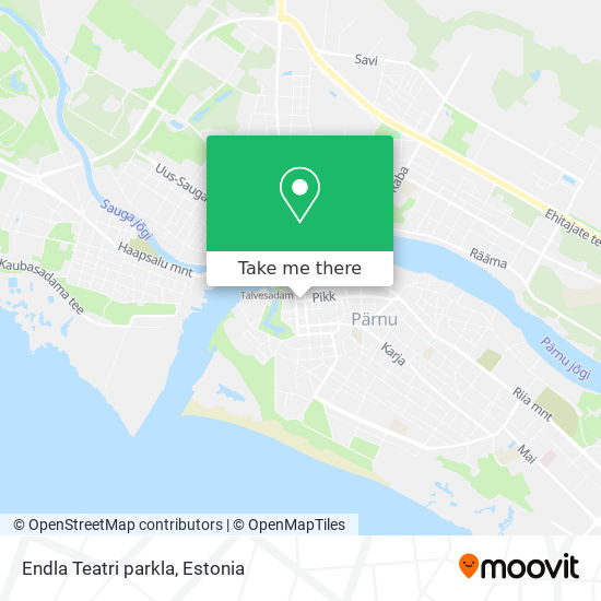 Endla Teatri parkla map
