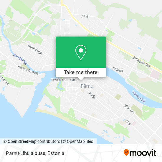Pärnu-Lihula buss map
