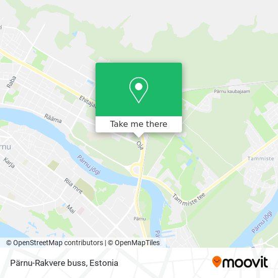 Pärnu-Rakvere buss map