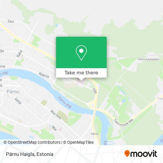 Pärnu Haigla map