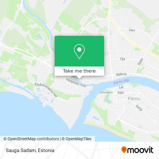 Sauga Sadam map