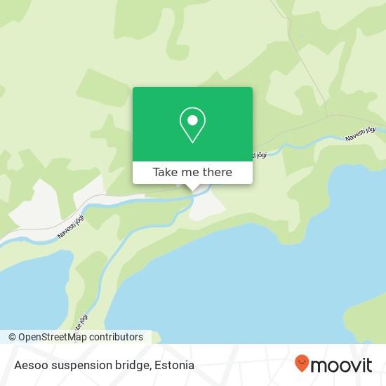 Aesoo suspension bridge map