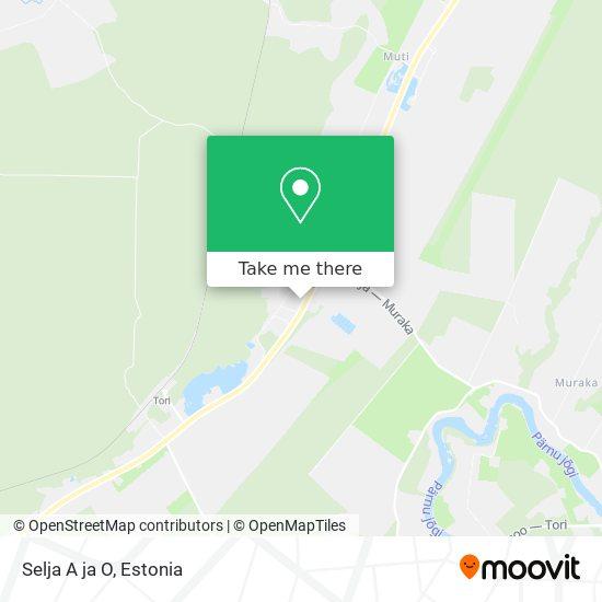 Selja A ja O map