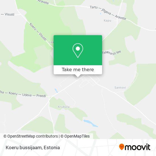 Карта Koeru bussijaam