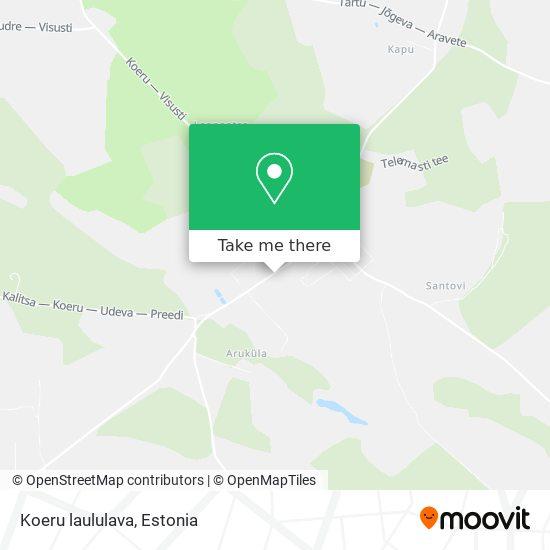 Карта Koeru laululava